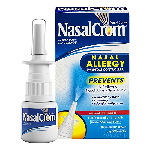 NasalCrom Nasal Spray Allergy Symptom Controller | 200 Sprays | .88 FL - Allergy Nose Spray