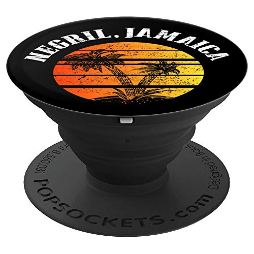 Jamaica Negril Pop socket Distressed Sunrise Ocean - PopSockets Grip and Stand for Phones and Tablets ()