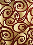 Modern Area Rug # S 241 Red 5 Ft. 2 In. X 7 Ft. 3 In. Review