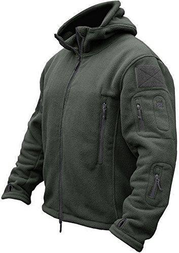 TACVASEN Men's Tactical Fleece Jacket (Large,Gray) - Dark Green Jacket Fleece