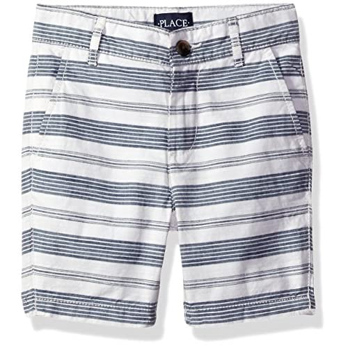 discount The Children's Place Boys' Striped Flat Front Shorts for sale