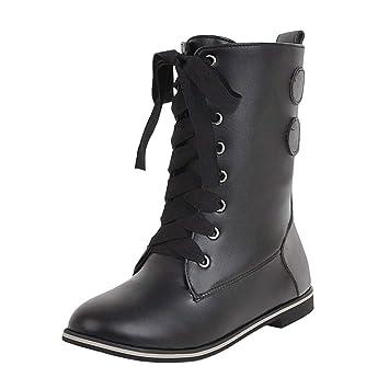Zapatillas 2018 gran inventario último clasificado LILICAT☃ Botas de Costura con Cordones Europeas y ...