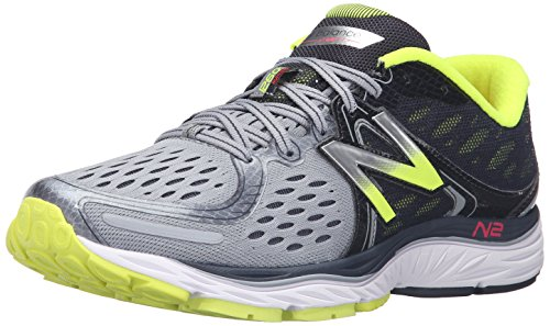 New Balance Men's M1260V6 Running Shoe, Grey/Yellow, 9 D US