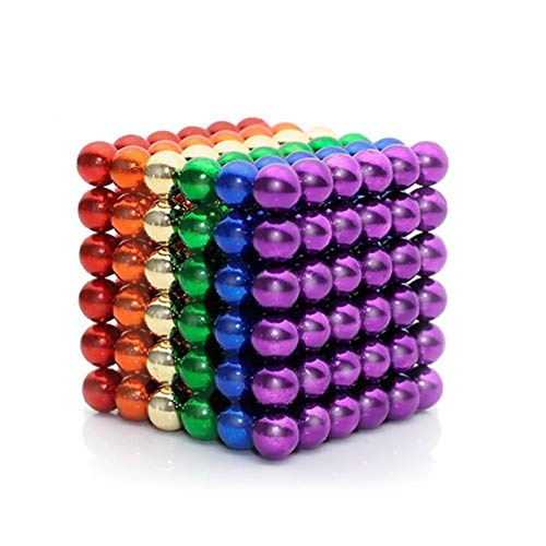 Lamdico Rainbow Fidget Cube with Portable Carrying Case for Stress Relief]()