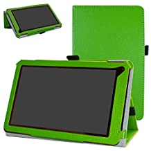 """RCA 7 Voyager III Case,Mama Mouth PU Leather Folio 2-folding Stand Cover for 7.0"""" RCA 7 Voyager III RCT6973W43 Android Tablet,Green"""