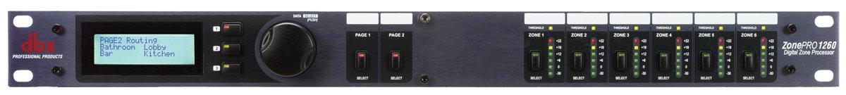DBX PROfessional/Harman 12X6 Zone PROcsr W/ 6 Mic Lines - 9D-1260M