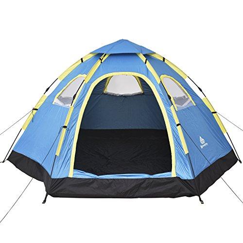 NutureFun 3-4 Personen Wasserdichte Camping Backpacking Familien zelt , 4 Season, 5 Windows, 230 * 144 * 280 cm (L * H * W)