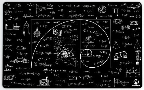 "Makermat ""Mathlogic"" | 31.4""x19.7""x0.2"" | Professional Mat | Astrophysics | Mousepad"