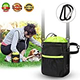 New Dog Treat Training Pouch Bags – Dog Walking Bag- Easily Carries Pet Toys, Kibble, Treats- Upgraded Adjustable – Removable Extra Long Waist Belt – Shoulder Strap – Improved Poop Bag Dispenser Review