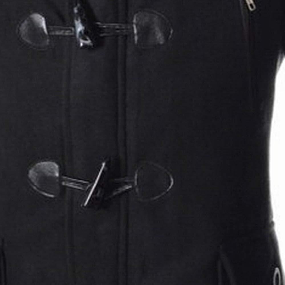 Laisla fashion Trench Hiver Chaud Chaud Revers pour De Classique Laine Hommes Élégant Long Outwear Double Boutonnage Coupe Vent Revers Manteau Smart (Noir) I-schwarz