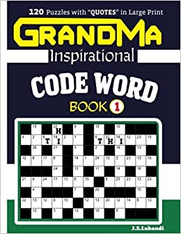 443d8e19c2 GRANDMA Inspirational CODE WORD Book 120 puzzles and inspirational quotes  to boost your memory