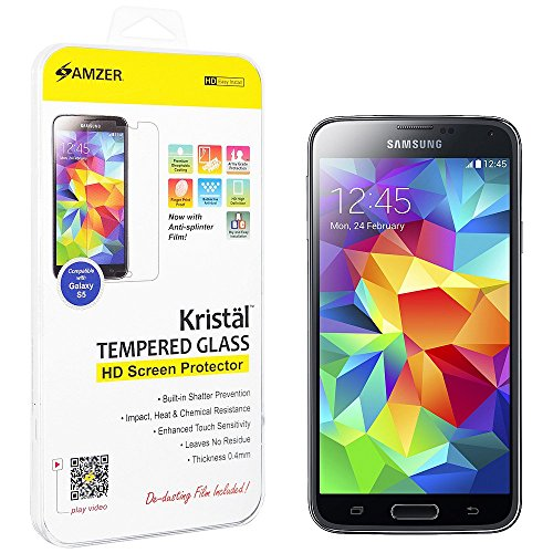 Amzer Kristal Tempered Glass HD Screen Protector Scratch ...