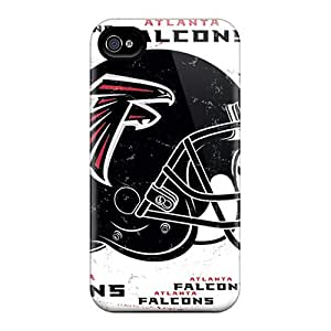 Scratch Protection Hard Phone Covers For Iphone 4/4s (Ehr15867CQkf) Custom Nice Atlanta Falcons Skin