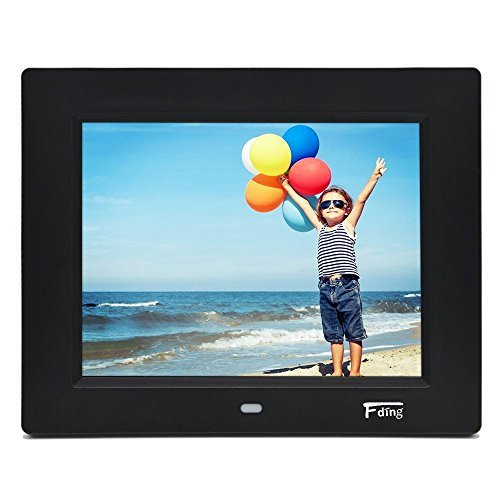 8 Inch Hi-Res LED Digital Photo Frame with Motion Sensor & 8 GB SD Card-Black