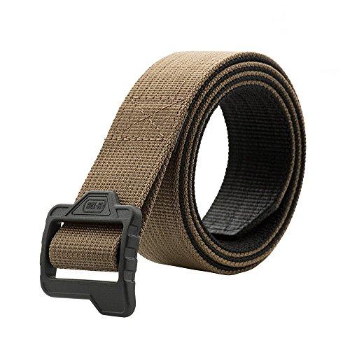 M-Tac Tactical Belt - Double Duty Belt - Web Belt (Black - Coyote, L (38-40))