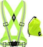 High Visibility Reflective Vest Men and Women. Safety Reflective Running Gear for Men and Women for Night Running, Cycling, Walking (Green Vest)