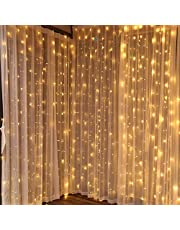 Curtain Light 300LED Lights For Party, Birthday, Wedding, Bedroom, Patio, Christmas, Backdrop Twinkle Star Light With Remote Control for Outdoor Indoor Warm White