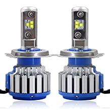 RCP - H4(HB2/9003)- LED Headlight CREE Bulbs Conversion Kits + Canbus (1 Pair)- 80W 7200Lm White(6,000K) - 2 Year Warranty