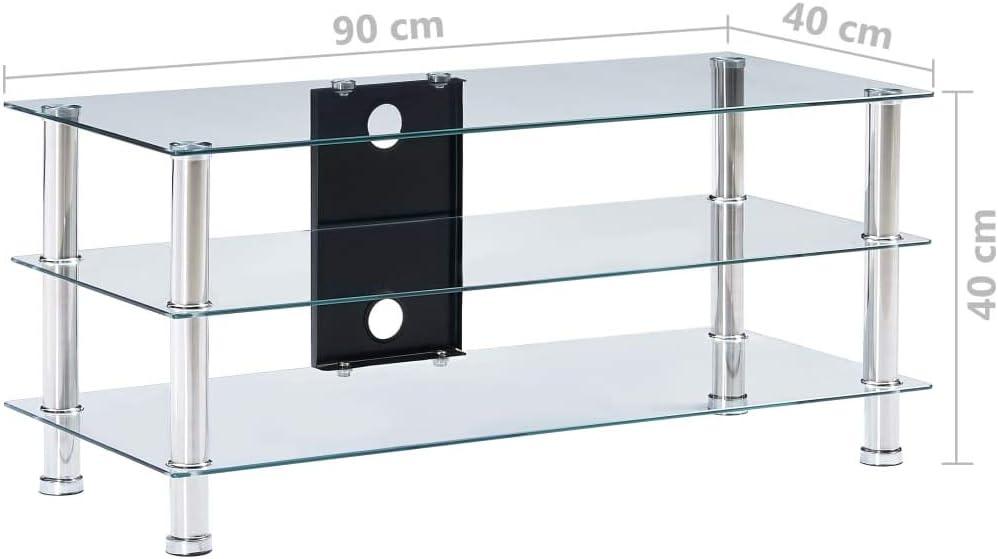 Namotu vidaXL - Mesa de TV (Cristal endurecido, 90 x 40 x 40 cm ...