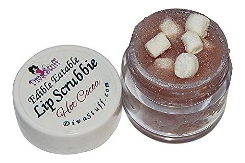 Hot Cocoa with Mini Marshmallows Lip Scrubbie by Diva Stuff - 1/4 ounce - Plump Sweet