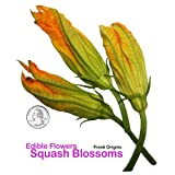 Edible Squash Blossoms - 25 Count (Pack of 4)
