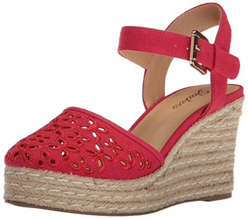 Skechers Cali Women's Turtledove Platform Sandal, Red, 5 M US