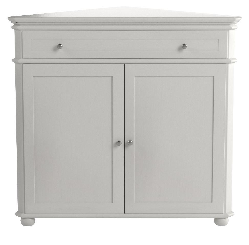 Amazon Com Home Decorators Collection Hampton Bay 32 W Corner Cabinet With Two Wood Doors Wood Doors White Furniture Decor