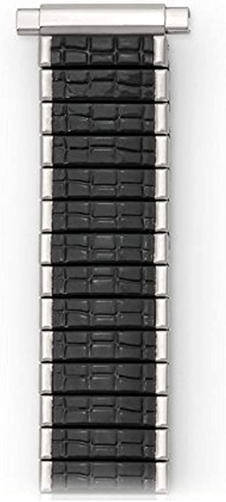 SPEIDEL 16-19MM Black Silver ROMUNDA Twist O Flex Watch Band Strap