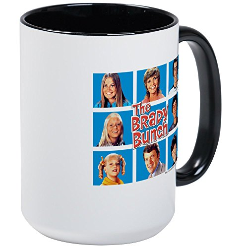 (CafePress - The Brady Bunch Grid Large Mug - Coffee Mug, Large 15 oz. White Coffee Cup)