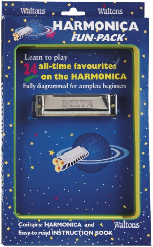 Waltons Delta Harmonica Fun Pack - Key of C - Learn to Play Harmonica - For Beginners, Intermediate, Experts - Instruction Lesson Booklet -