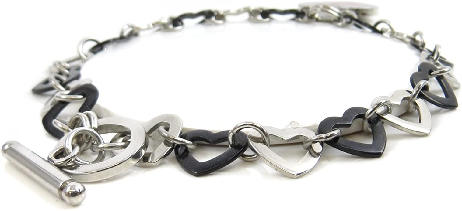 Steel Hearts Pre-Engraved /& Customizable Insulin Dependent Toggle Medical Alert Bracelet Black My Identity Doctor