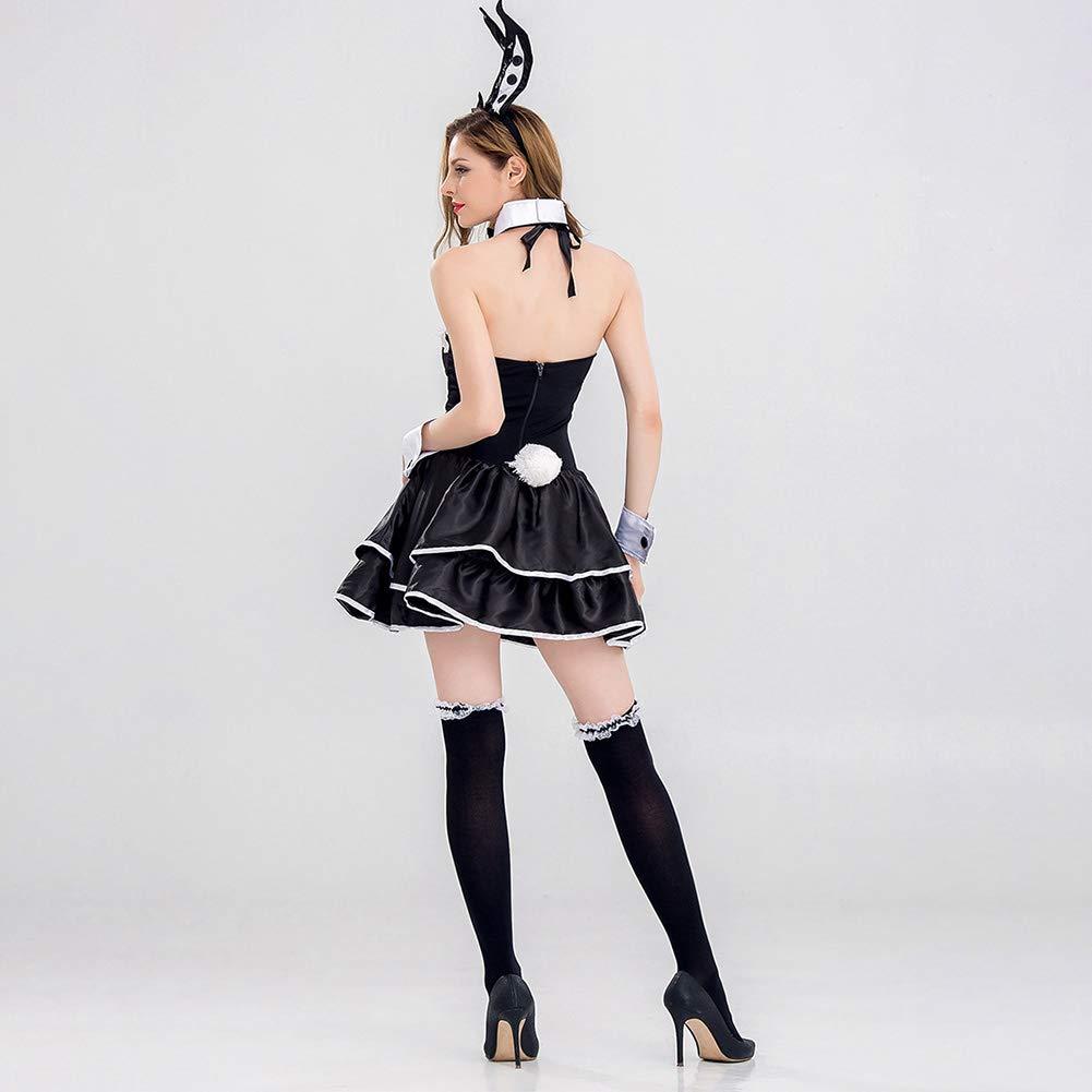 CHB Schwarz-Weiß Bunny Animal Rolle Rolle Rolle Spielen Kostüm Bühne Performance Party Nachtclub Cosplay Kostüm Sexy Kleidung,8526,XL 4d98e1