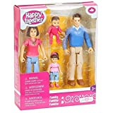 You & Me Happy Together Family Action Figure Set (Dad, Mom, Daughter, and Baby) Brown Hair