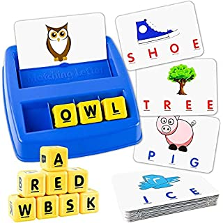 Little Treasures Matching Letter Game, Teaches Word Recognition, Spelling, and Increases Memory, 3 Years and Up