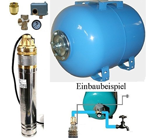 Hauswasserwerk m. Tiefbrunnenpumpe 4