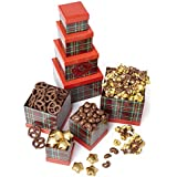 Plaid Tidings Holiday Chocolate Gift Tower