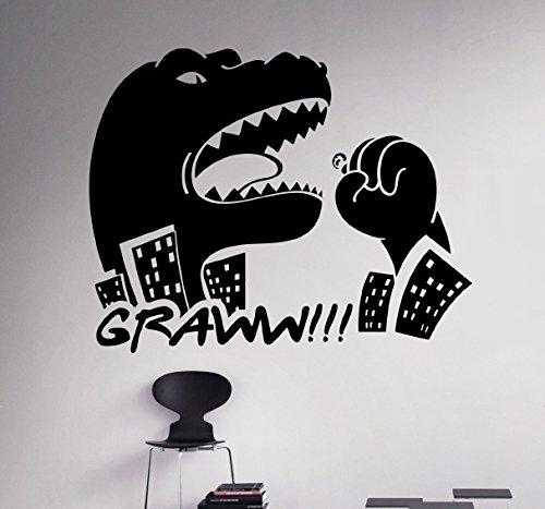 Dinosaur Godzilla Wall Vinyl Decal Monsters Wall Sticker Home Interior Removable Children Kids Nursery Room Decor 30(dsr)