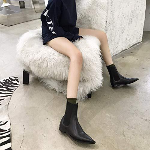 KPHY Damenschuhe Mode Retro Flache Schuhe Flache Flache Flache Hat Stacheln Kurze Stiefel Mit Stiefeln Chelsea Stiefel. b79f76