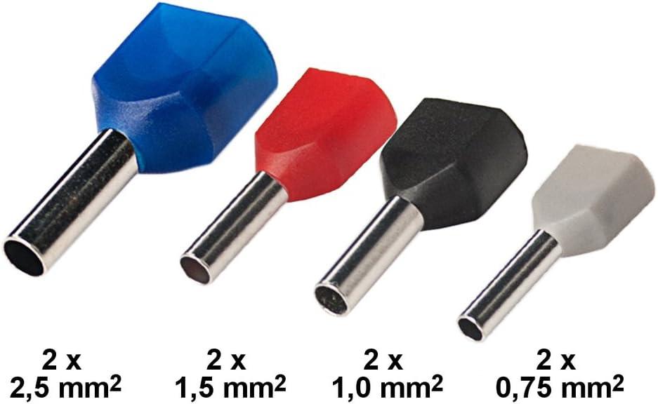 EDI-TRONIC 100 pi/èces embouts de c/âble non isol/és 4mm/² EN-4mm/²