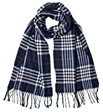 Mens Winter Plaid Scarf Classic Soft Luxurious Cashmere Feel Wrap Scarf Warm Scarves