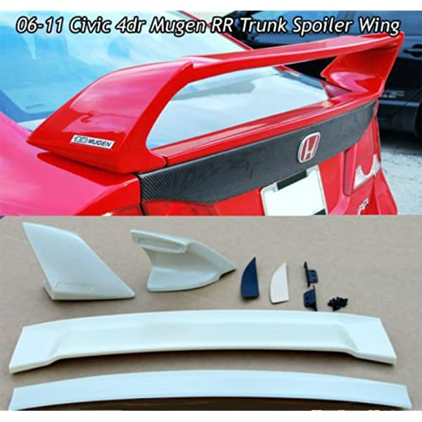 ABS Matte Black Rear Spoiler Wing for 1996 1997 1998 1999 2000 6th Gen Honda Civic 2 Door Si ZXMOTO Trunk Spoiler Wing w//LED Brake Light