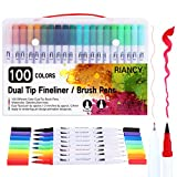 Best Brush Tip Markers - RIANCY Dual Tip Brush Pen Art Markers Review