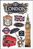 Voyage Londres-autocollants 3D