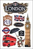 Paper House Productions STDM-0023E 3D Cardstock Stickers, London (3-Pack)