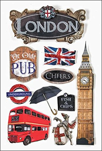 Paper House 3D Stickers 4.5-Inch-by-7.5-Inch -London ()