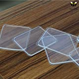 PU Gel Glue Pad Silicone anti-slip Transparent strong stickers 10 pcs/set for Phones ,Pictures , iPad,Eyeglasses EZ pass,hooks ,Tools Rugs Washable Reusable
