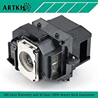 ELPLP66 / V13H010L66 Replacement Lamp for Epson MovieMate 85HD Projector with Housing (by Artki)