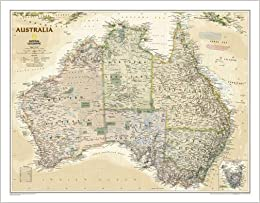 Buy Map Of Australia.Buy Australia Classic Tubed Wall Maps Continents National