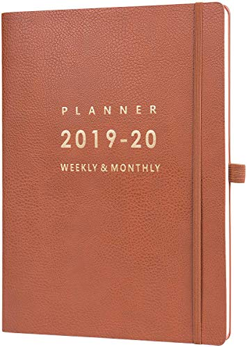 (2019-2020 Planner with Pen Holder - Weekly & Monthly Planner with Calendar Stickers, July 2019 - June 2020, Inner Pocket with 24 Notes Pages, A4 Premium Thicker Paper, 8.5