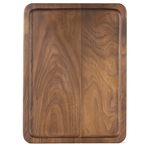 Windy Acacia Wood Serving Tray,Decorative Trays,Serving Platters for Tea Coffee Wine, Premium Quality, Eco-friendly,Baby Feeding Gift Sets,Rectangular Acaciaware 10.5 by 7.25 by .75Inch (Medium Size) Pine Glassware